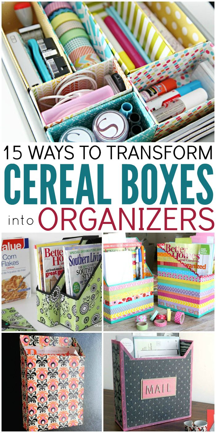 15 Ways You Can Transform Cereal Boxes Into Organizers - One Crazy House