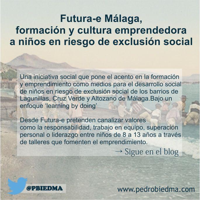 Futura-e Málaga, formación y cultura emprendedora a niños en riesgo de exclusión social