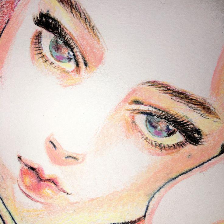 Silk (2016) Original Artwork by Little Thunder. 11.7 X 11.7 Color Pencil/ Acid…