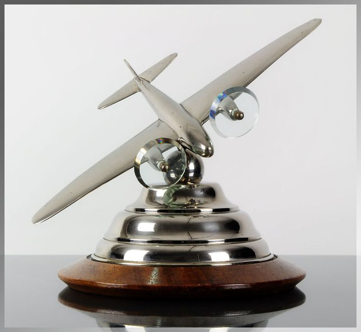Unique 1930s French ART DECO Aircraft AVIATION SCULPTURE Airplane