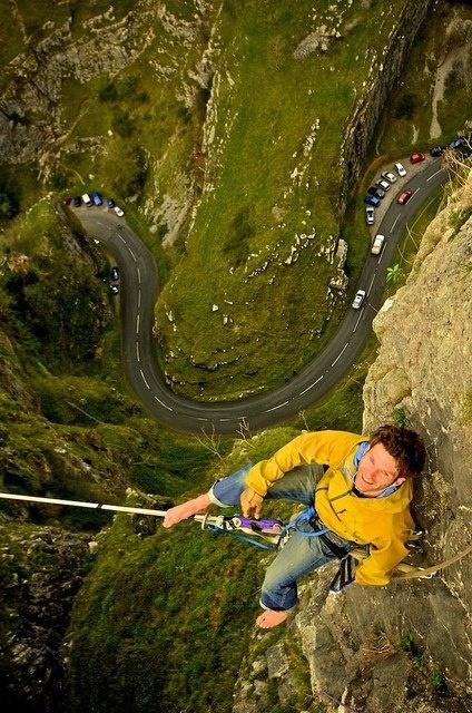 Cheddar Gorge , England - rock climbing. Crazy view. #adventure #travel