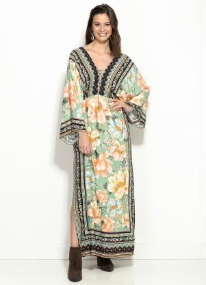 7b8117392 Vestido Longo Floral da Farm, disponível do tamanho P ao G. Encontre no #