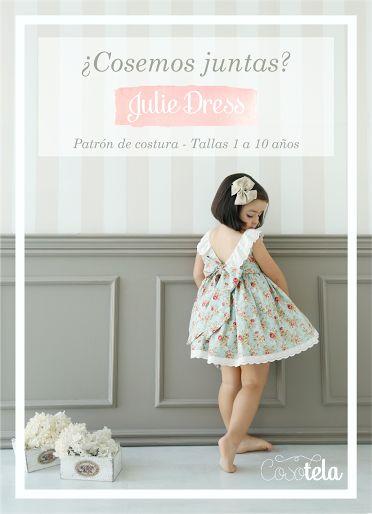 Cosemos juntas Julie Dress Tallas 1 a 10 años. Patrón de costura (pdf)