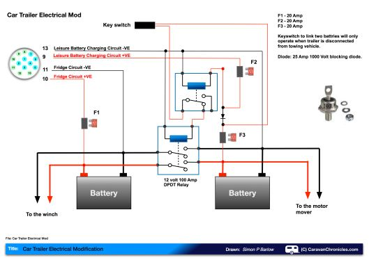 leisure battery charging circuit diagram car trailer