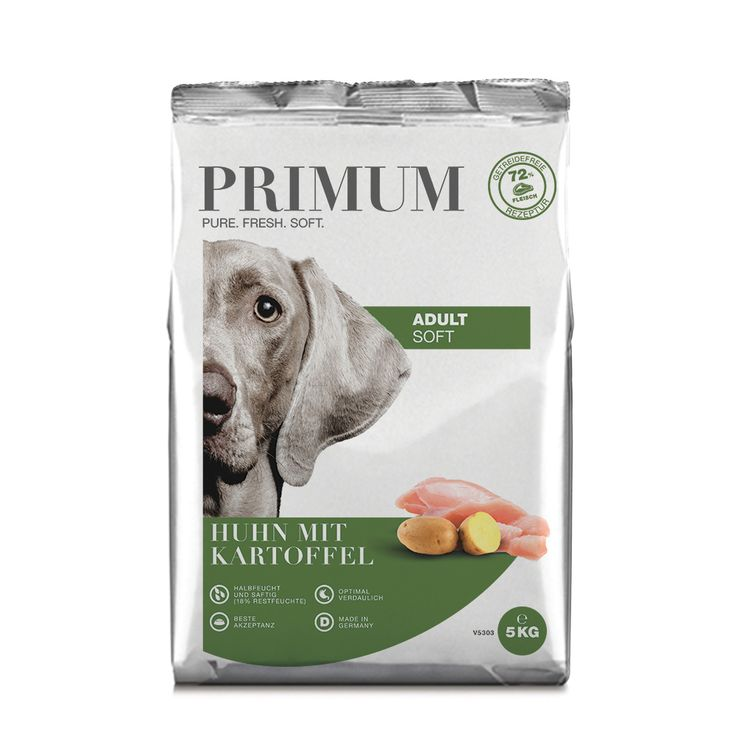 halbfeuchtes Hundefutter, Soft, Huhn, 3x5kg, getreidefrei