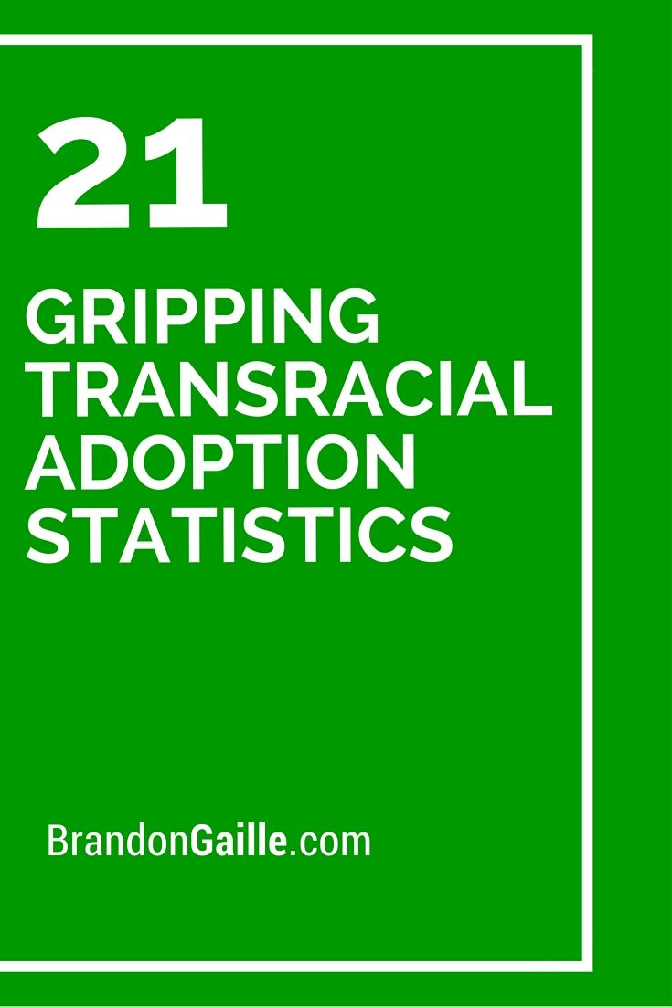 Interracial adoption numbers anxiety