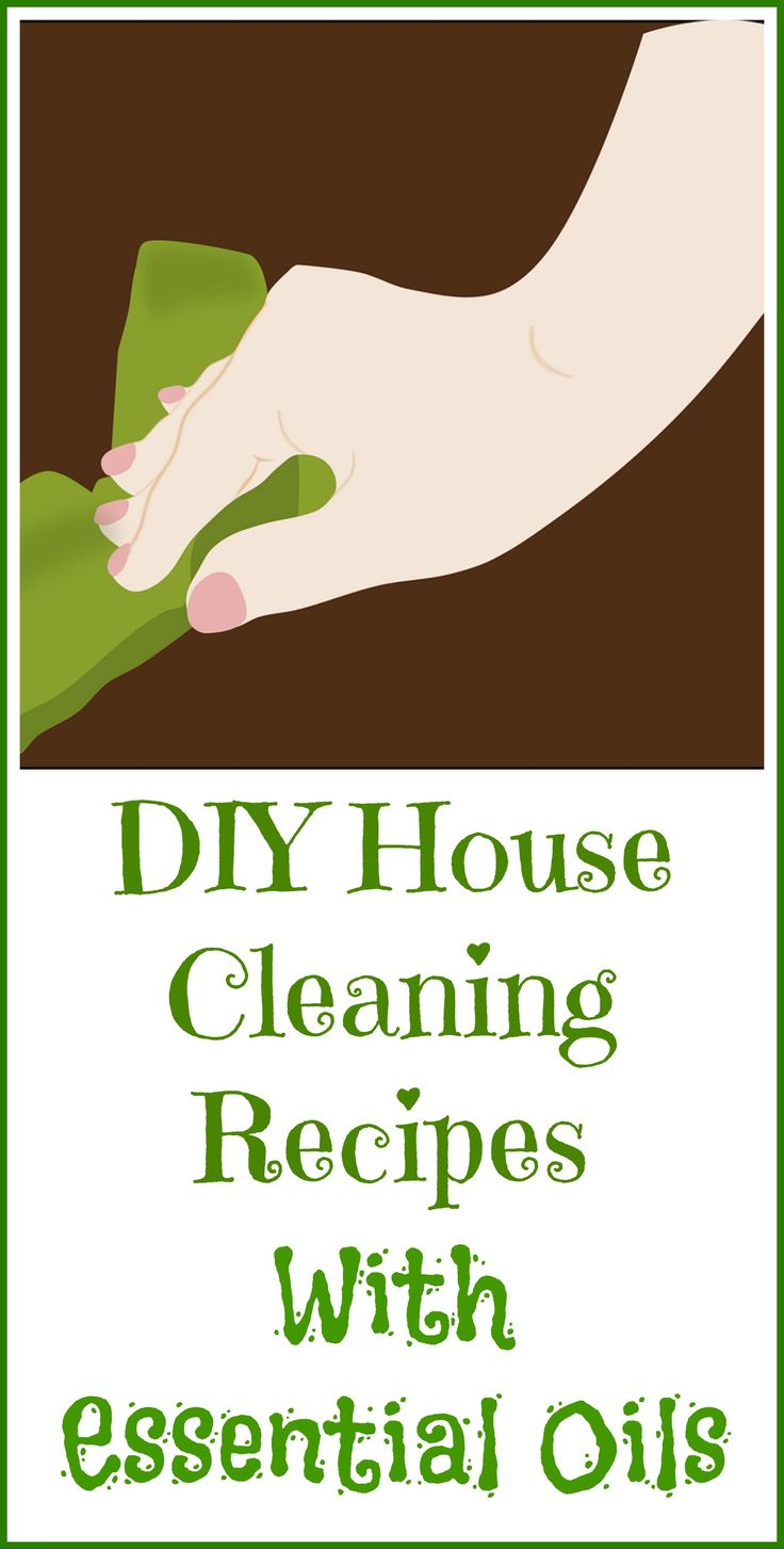 DIY cleaning recipes with essential oils.