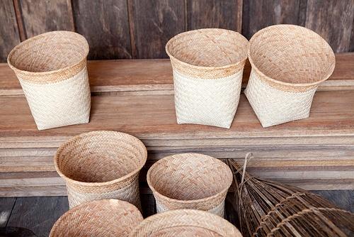 Rattan Handicrafts, Tempayung, Central Kalimantan, Indonesian Bo