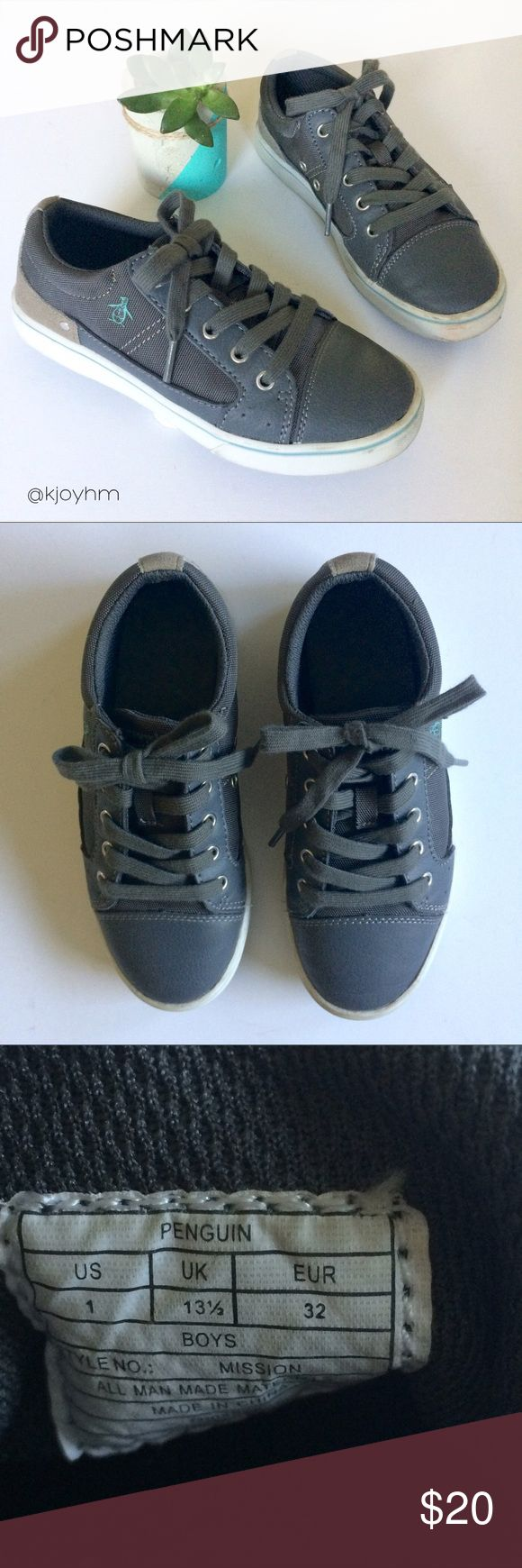 Penguin sneakers These classic sneakers are great for a stylish little boy who still wants to be comfy. Great with pants or shorts. In excellent condition - only worn 2-3 times. Original Penguin Shoes Sneakers