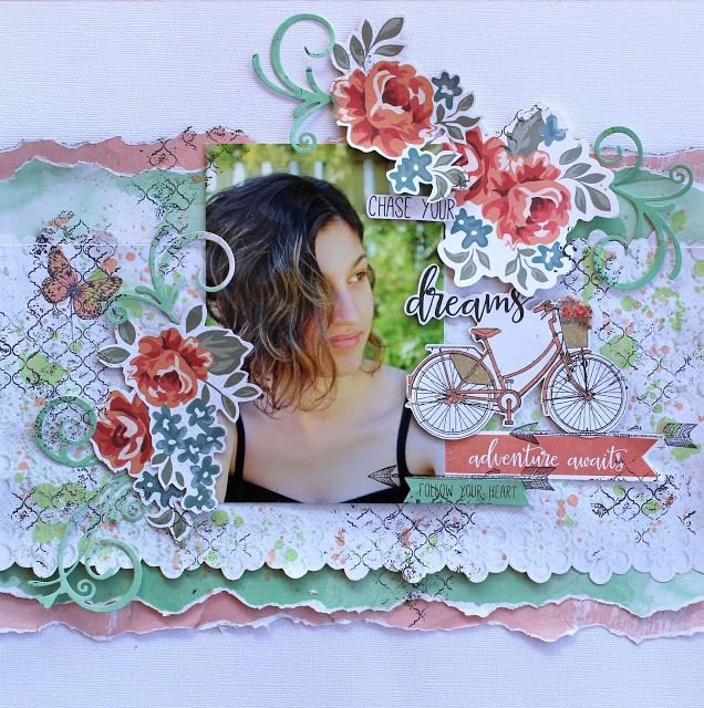 Kaisercraft Boho Dreams - Chase Your Dreams layout