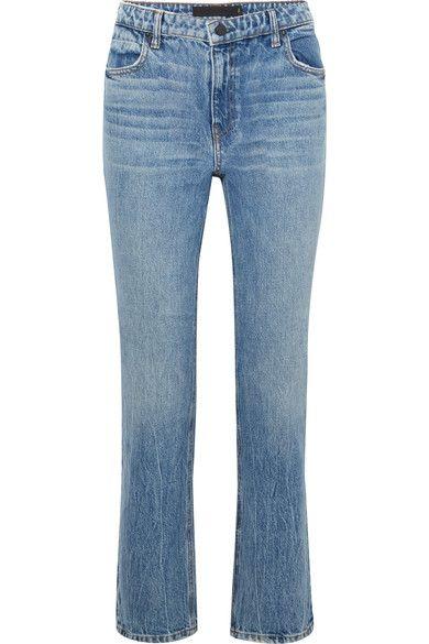 Alexander Wang - Cult Cropped High-rise Straight-leg Jeans - Light denim