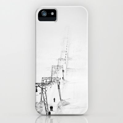Fading skilift in Folgefonna iPhone & iPod Case by Håkon Jørgensen - $35.00