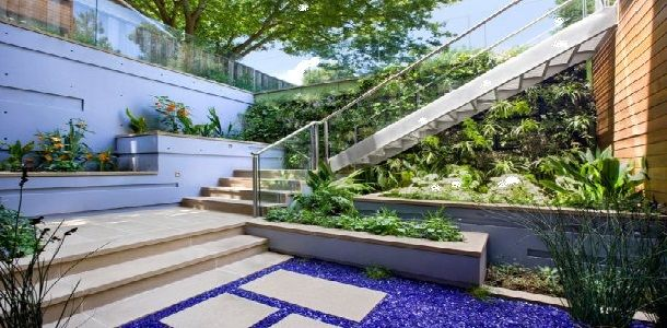 Exterior Modern Stairs