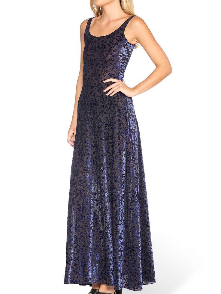 Burned Velvet Midnight Rose Maxi Dress - LIMITED (AU $120AUD / US $85USD) by Black Milk Clothing