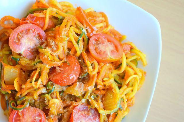 Zdrowie na języku: Spaghetti z cukinii - dietetyczne, lekkie, wegańskie :)