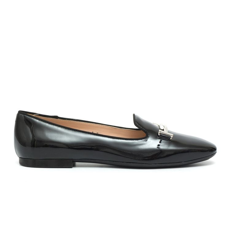 TOD'S-Tod's Slippers In Black Patent Leather Double T