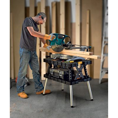 Keter Folding Work Table, 33 1/2in.L x 21 3/4in.W x 29 3/4in.H, Model #17182239. For TJ