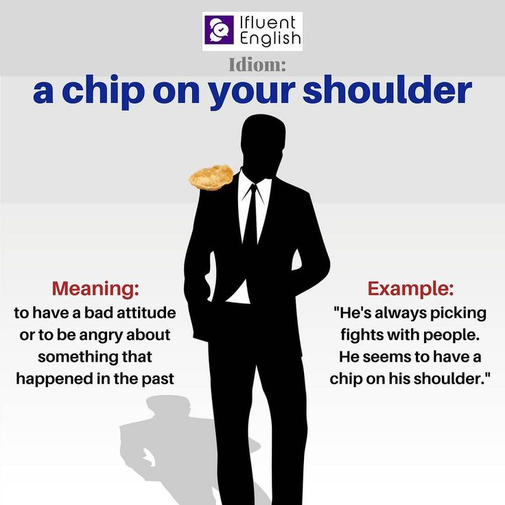 what is the meaning of chip on your shoulder
