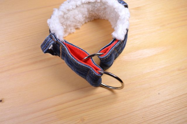 Jeansupcycling Halsband Selbermachen (mit Knopf   tolle ...