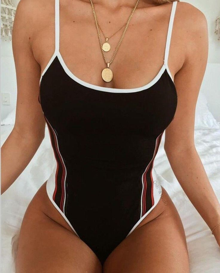 Women One-Piece Swimsuit Bandage Bikini Push-up Padded Bathing Monokini Swimwear 1