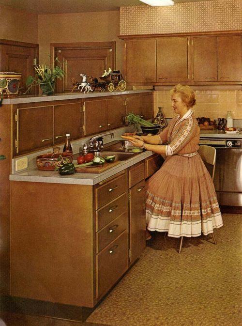 glamorous retro kitchen furniture | Were stainless steel appliances use in vintage midcentury ...