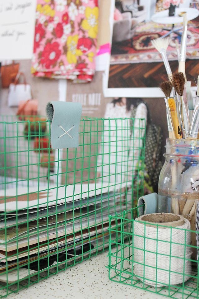 Make Your Own Wire Baskets via A Beautiful Mess