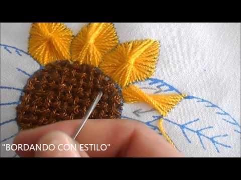 Bordado Fantasia Puntada niña coliflor - YouTube                                                                                                                                                     Más