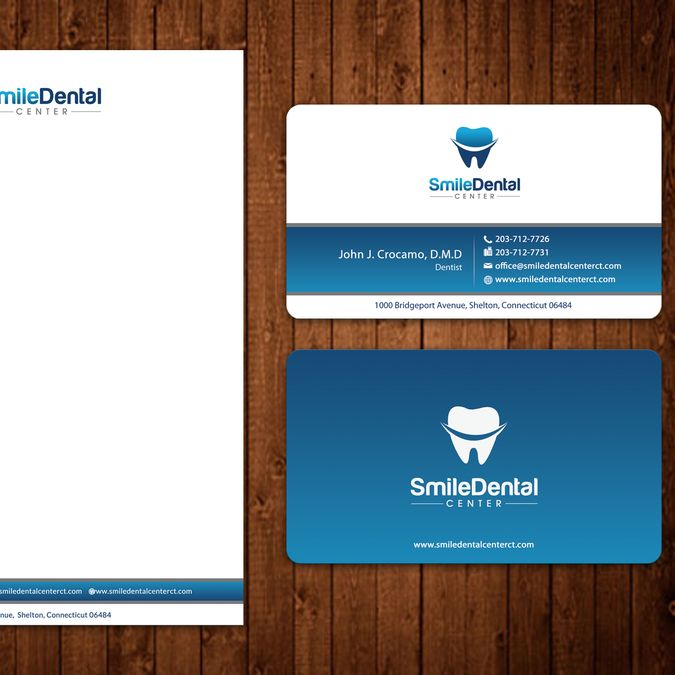 Modern and friendly business card and letterhead for Smile Dental Center by ™SF_Design™