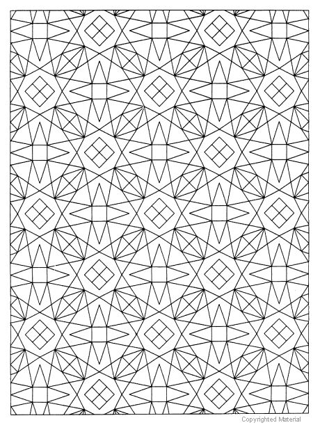 Geometric Allover Patterns Coloring Book, Dover Publications.