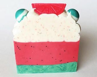 Jabón de sandía - jabón exfoliante - artesanales de jabón - jabón de frutas - artesanal casera para la venta - jabón - jabón hecho a mano - jabón perfumado