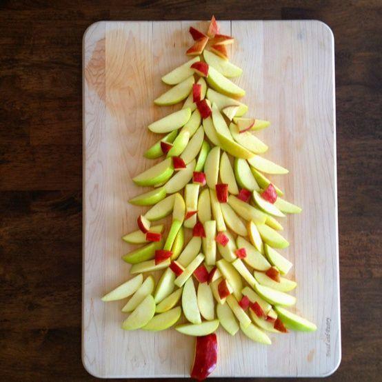 pour le dessert - sapin de pommes