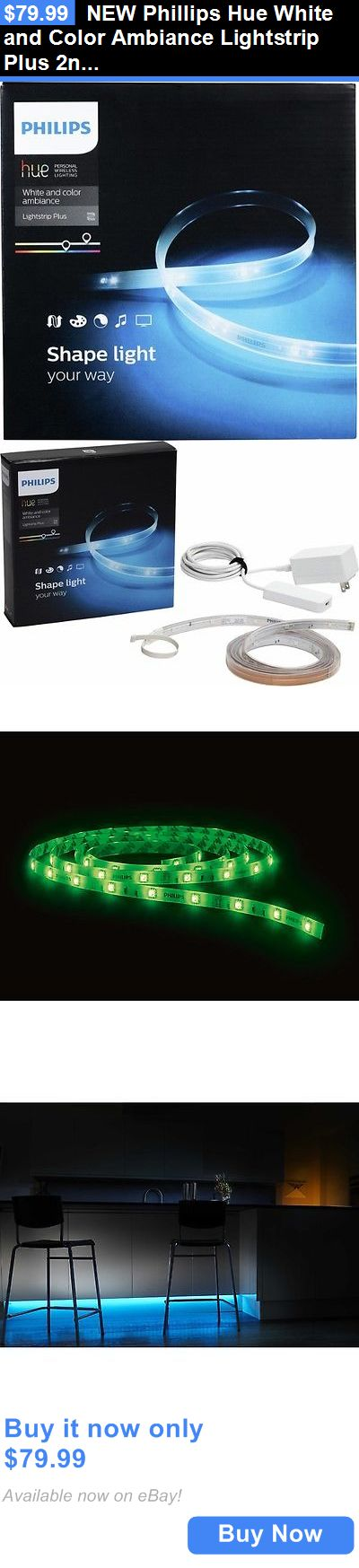 Other Home Automation: New Phillips Hue White And Color Ambiance Lightstrip Plus 2Nd Generation BUY IT NOW ONLY: $79.99