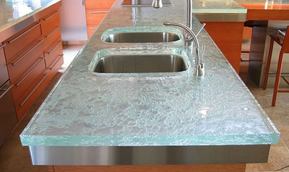 Recycled Gl And Resin Countertops Glhamptons Home