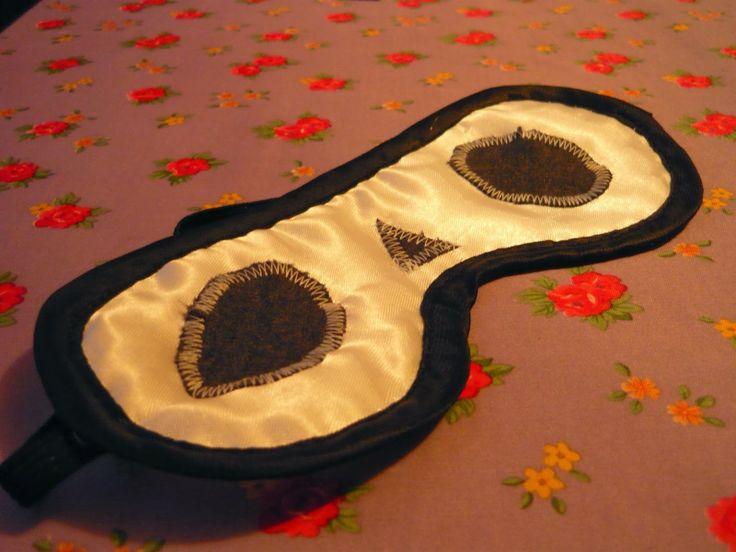 Diy - sleep mask panda