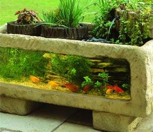 Patio Aquariums bring life and tranquility to any outdoor area or conservatory. With three unique models to choose from they have been fully tried and proven through normal British summer and winter seasons and prove to keep fish and plants active all year round. This is due to the insulative materials they are made from and the built in filtration systems. All 3 models are of the same technical design with the larger 300 models having bigger pumps and filters. All have a viewing panel of…