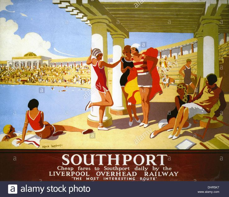 SOUTHPORT Railway poster promoting the English resort about 1928 LOR.16