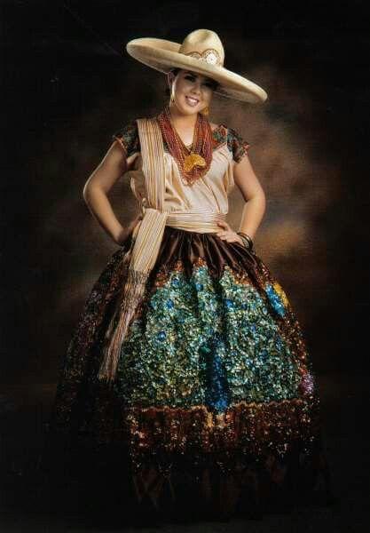falda de china Poblana , Evakali