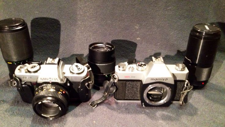 LOT: Minolta and Mamiya Cameras with 4 Lenses  by PastFunk on Etsy