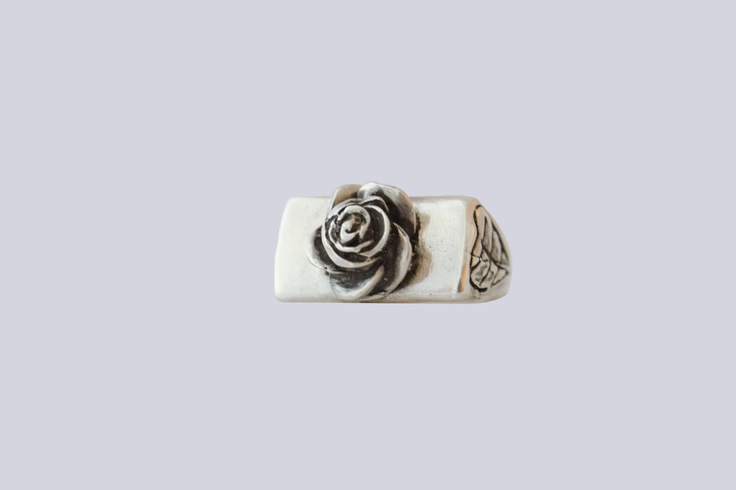 Sterling silver Rose Ring! Check it out at www.etsy.com/shop/kaczdesigns