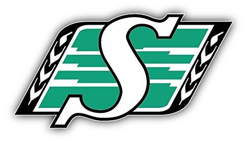 Saskatchewan Roughriders Logo Football Sport Art Decor Vinyl Sticker 5'' X 3''