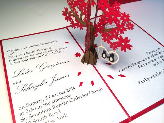 Custom Laser Cut Hand Made Pop Up Wedding Invitations Or Save The Dates