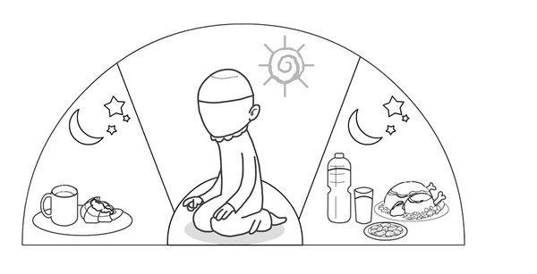 Ramadan colouring page