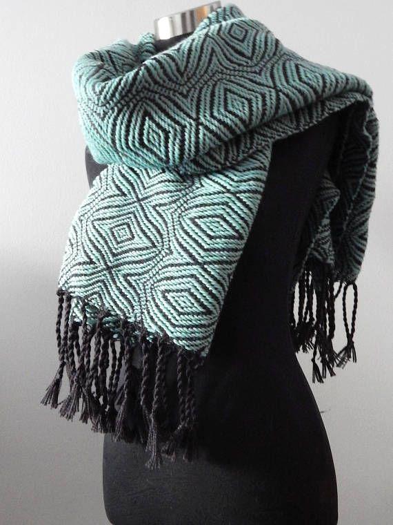 Hand woven Shawl, wool.