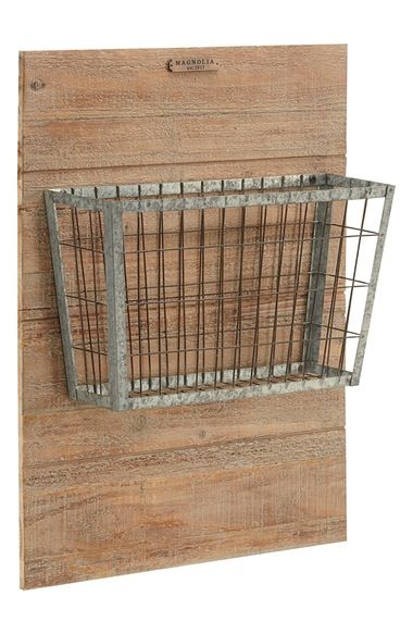 Magnolia Home Metal Basket on Wood available at #Nordstrom