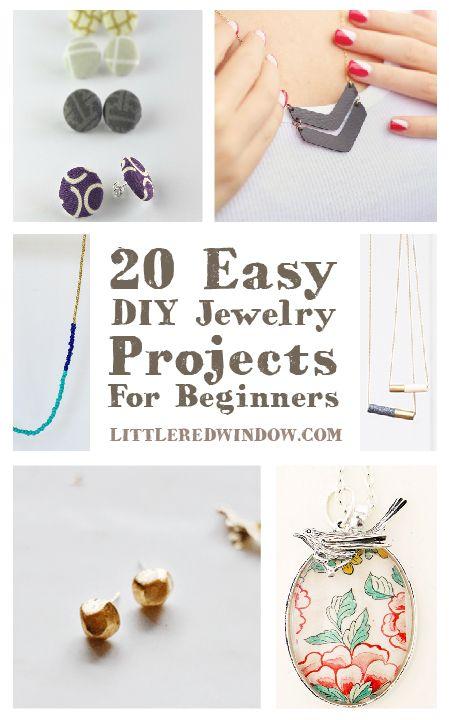 20 Easy DIY Jewelry Projects for BEGINNERS! | littleredwindow.com