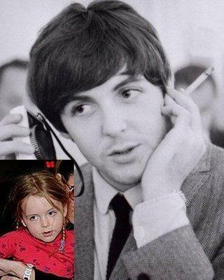 Beatrice McCartney in 2008, and Paul during the 1960s. photo BeaPaul03.jpg