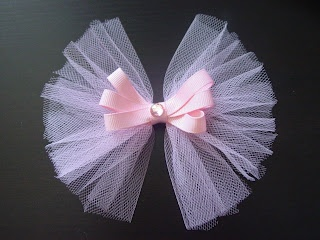 A use for leftover tulle from making all those tutus!