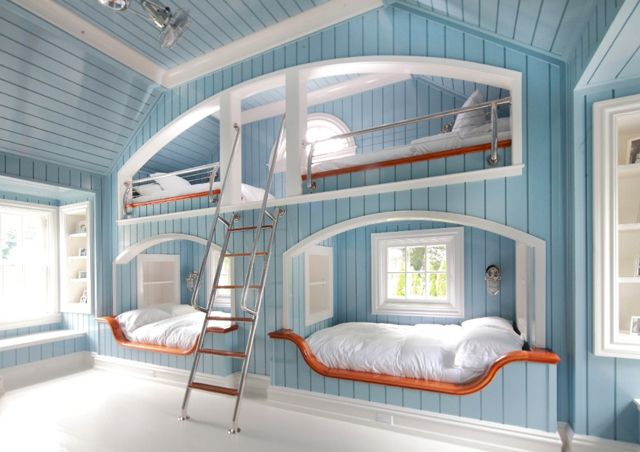 Beds built into the wall... fabulous idea!!!: Lake Houses, Bunk Beds, Beach Houses, Kids Room, Kid Rooms, Bunk Rooms, Bedrooms, Guest Rooms, Bunkbeds