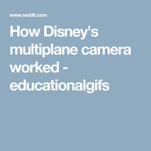 How Disney's multiplane camera worked - educationalgifs