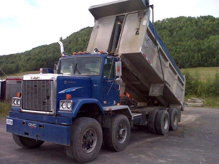 Semitrckn Rollerman1 Twin Steer Gmc General Dump Dump Trucks